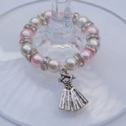 Dancing Dress Wine Glass Charm - Full Sparkle Style